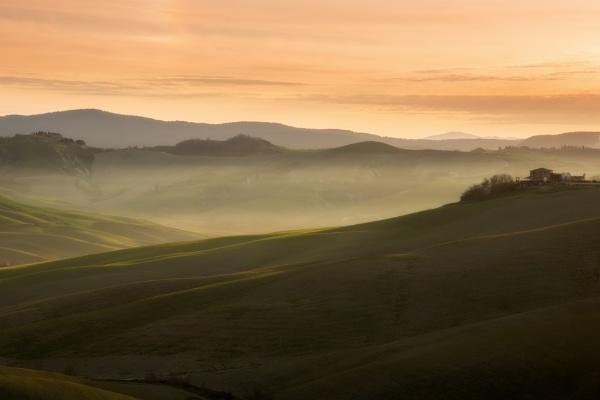 A warm foggy sunrise by Methariorn