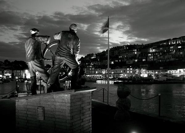 Brixham Fishermen Statue by Bigdenbo