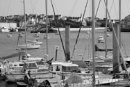 View across harbour framed by verticals. by petebfrance