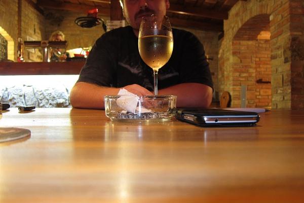 wine drinker by josa