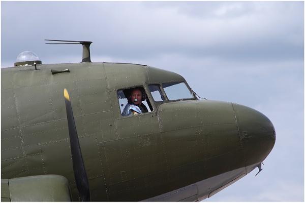 Douglas Dakota and Pilot by johnriley1uk