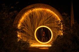 Spinning under the bridge
