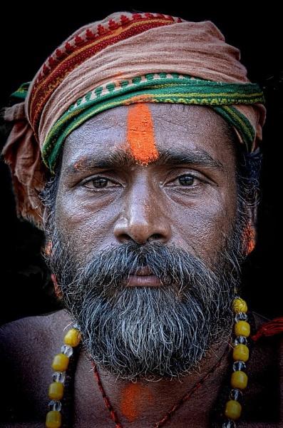 Young sadhu in Varanasi by sawsengee