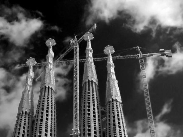 Cranes v Spires by AndyTheBee