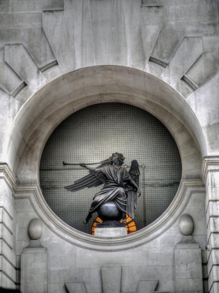 The Angel of Fleet street London  The Angel of Fleet street London The Herald, Reuter\'s, 85 Fleet Street, London, by Sir William Reid Dick, RA 1878-1961. 1938-39. Bronze, 1.9m high by StevenBest