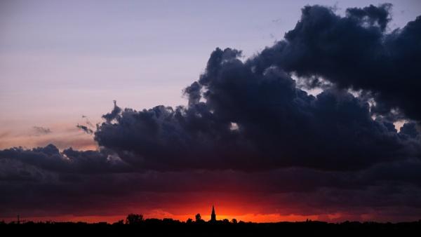 Sun Set Silhouette by Drummerdelight