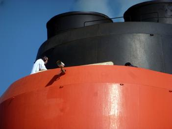 Working on Queen Mary 2 funnel