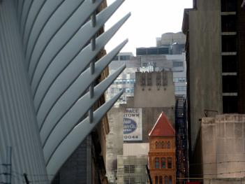 View from Fulton St Station. New York