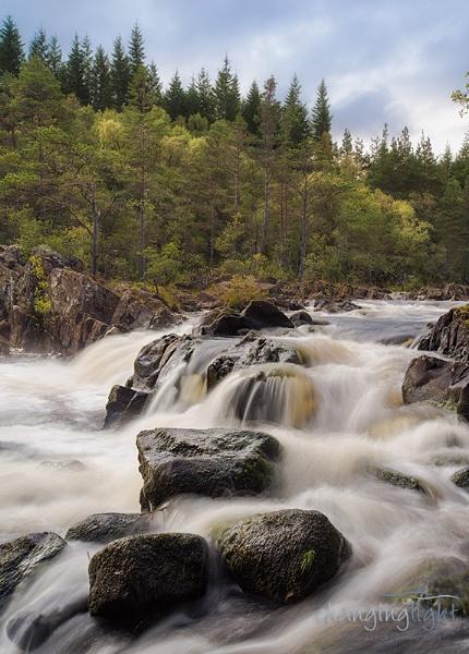 River Tummel in full flow by andylock