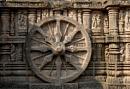 KONARK WHEEL...(Stone Sculptures-at-Sun-Temple-Konark-India) by debu