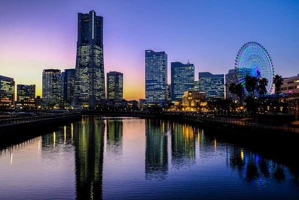 Yokohama at Dusk by JohnnyG