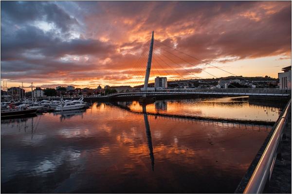 Swansea Sunset by geoffrey baker
