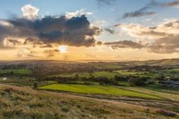 sunset on Baildon Moor