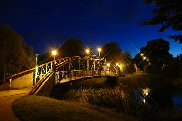 Night bridge by Zenonas