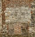 Brick-flint-wattle-daub-chalk-pebble-mortar-stone and grass by aitchbrown