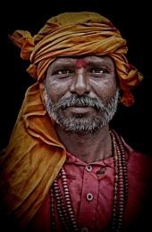 Hindu pilgrim in Haridwar