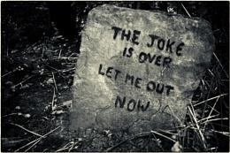 In a small cemetery...