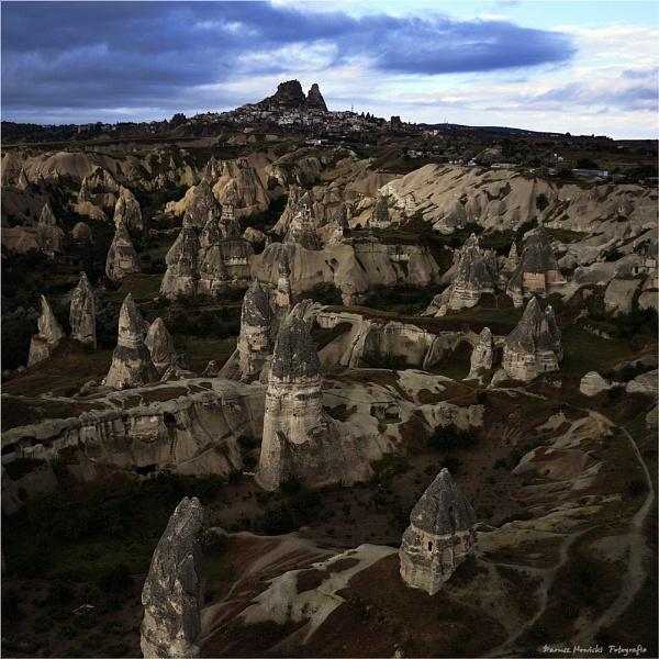 Uchisar Castle, Cappadocia by papajedi