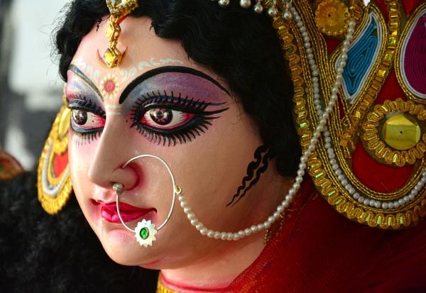 Idol of Goddess Durga ahead of Navratri festival by desert_photographer