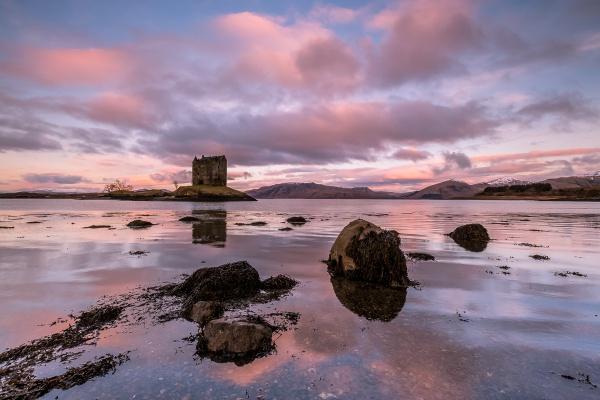 Castle Stalker Sunrise by john_starkey