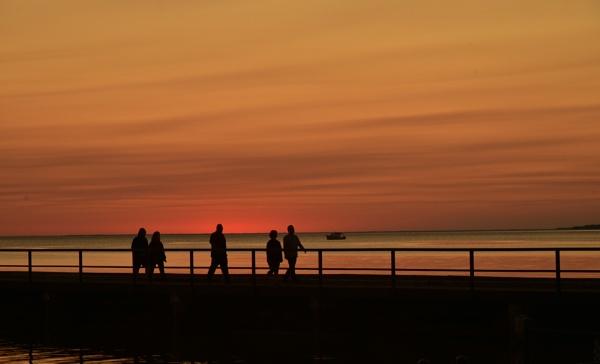 Sunset stroll by djh698