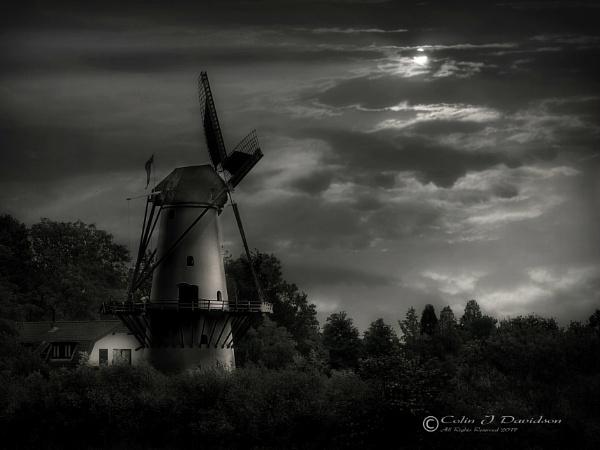Enspijk Mill in mono. by colijohn