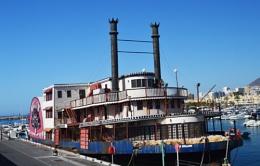 Old Paddle Boat Benalmedena Spain.