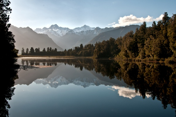 SouthernAlps - Lake Matheson _NZ by barryyoungnz