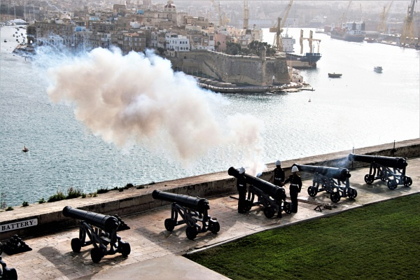 Firing the Midday Gun Malta by mike9005