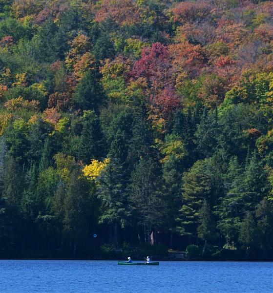 Small canoe in big landscape by djh698