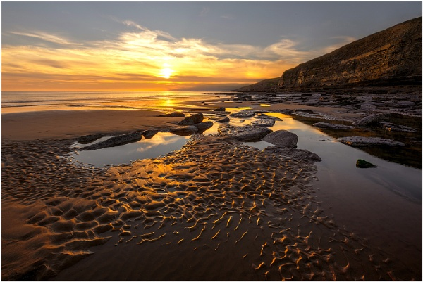 Evening at Southerndown by geoffrey baker