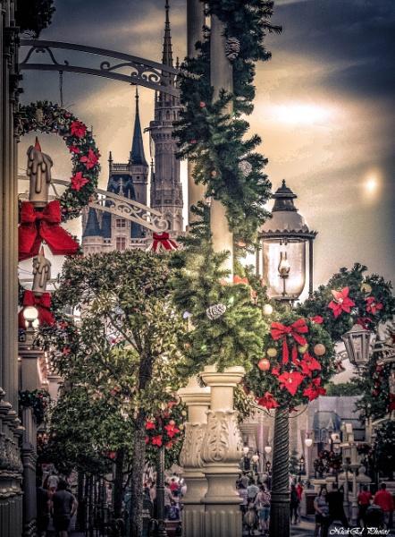 Main Street At Christmas in Walt Disney World by Nick_El
