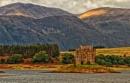 Castle Stalker on Loch Laich, Western Scotland