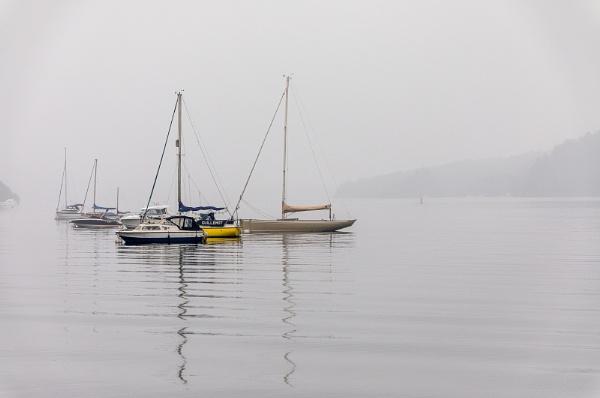 Misty Windermere boats by Bigpoolman