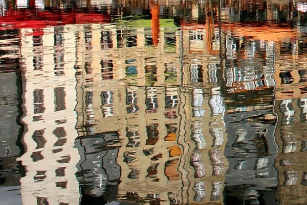 Reflections at Honfleur by nanpantanman