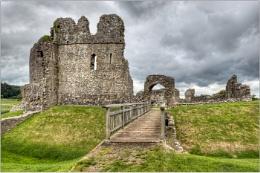 Ogmore Castle in colour
