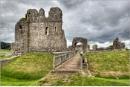 Ogmore Castle in colour by geoffrey baker