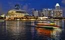 Nightfall at Marina Bay by sawsengee