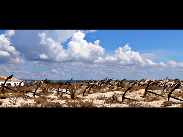 Anchor Graveyard, Barril Beach, Portugal.