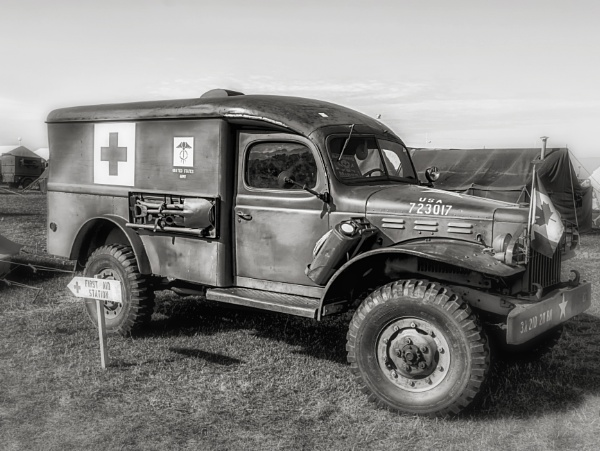 Dodge Ambulance WC 54, Pictured In Dieppe, France. by admphotography