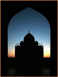 The Taj at sunset