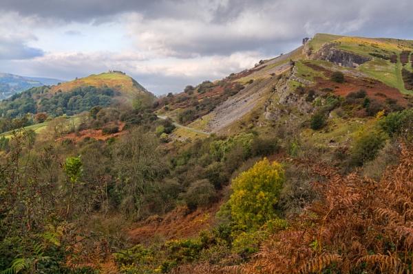 Looking towards Castell Dinas Bran, near Llangollen by Brenty
