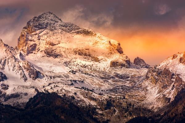 Scenic view of the Grand Teton mountain range by Phil_Bird