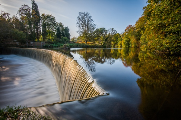 Guyzance Weir Northumberland by icphoto