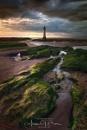 Evening at New Brighton Lighthouse by Tynnwrlluniau
