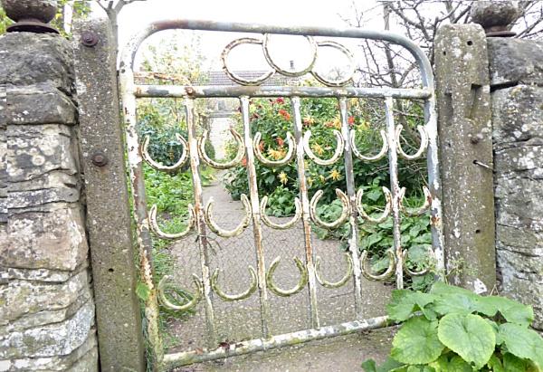 A Lucky Horseshoe Gate.