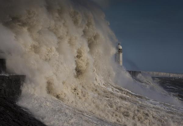 Storm Ophelia Porthcawl Pier by RocketRon