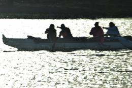War  Canoe...Peace-time