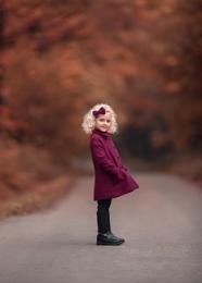 Retro Autumn lady