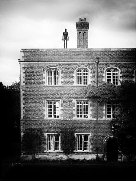Gormley figure at Jesus,Cambridge by BigAlKabMan